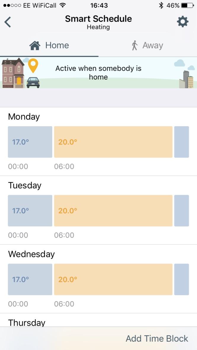 tado smart schedule