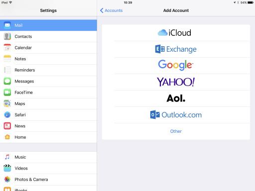 iOS Mail settings