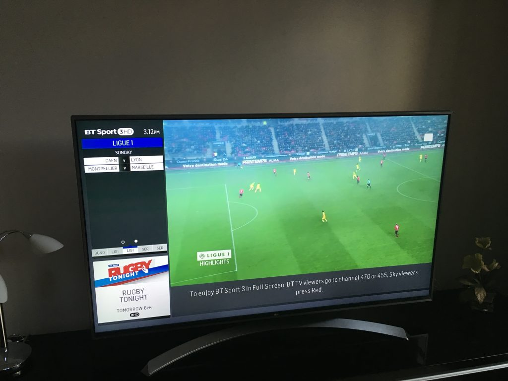 Viewing BT Sport on television using AirPlay
