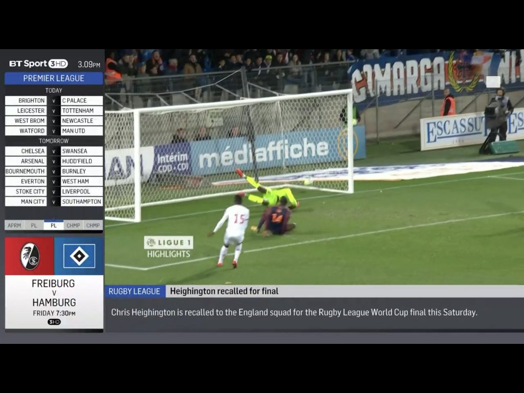 BT Sport on an iPad